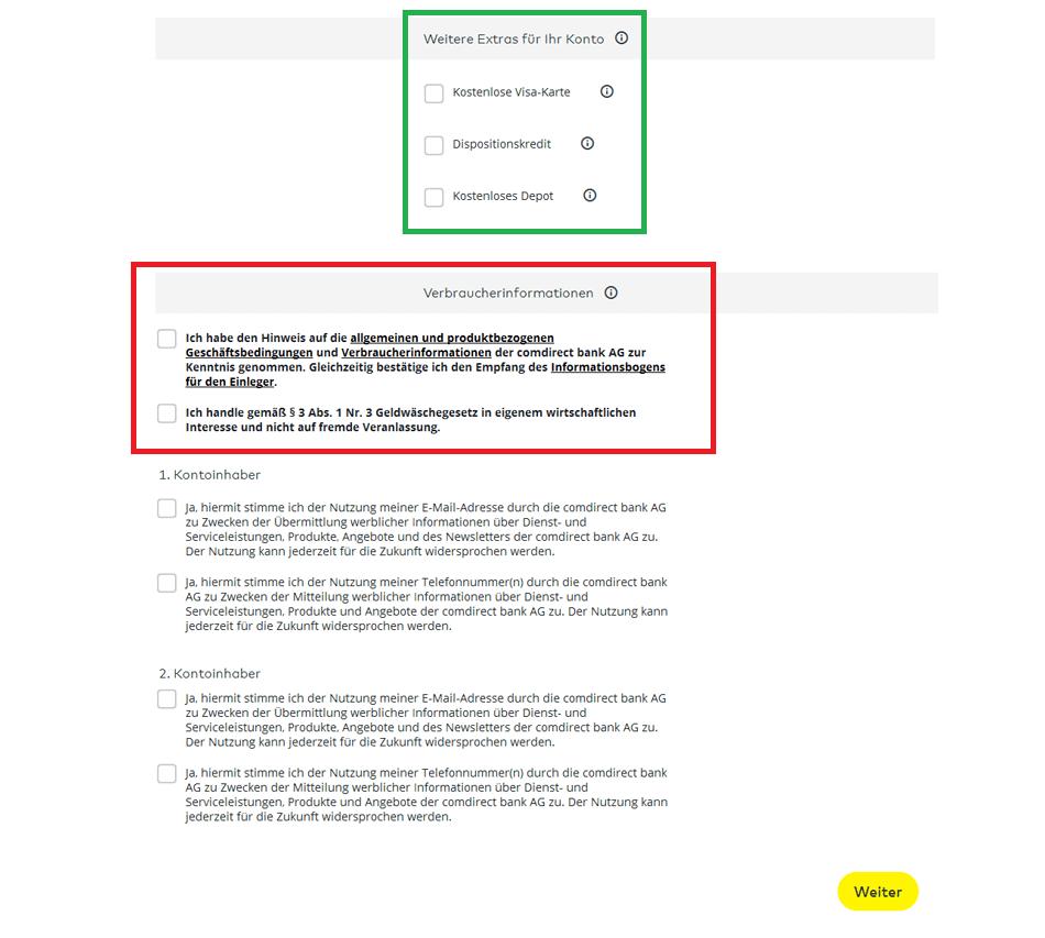 comdirect Eröffnung: Schritt 5