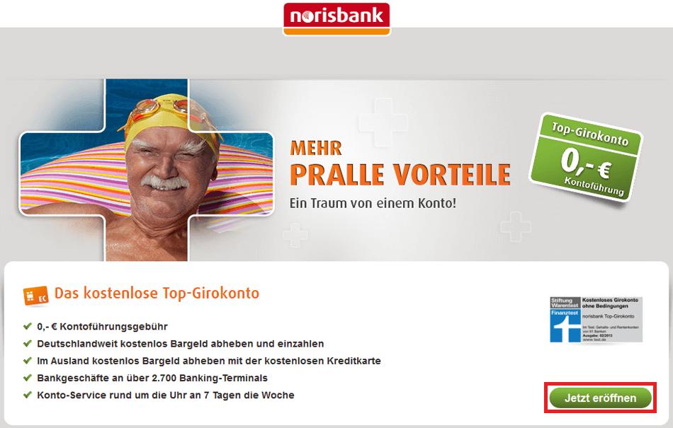 norisbank Eröffnung: Schritt 1