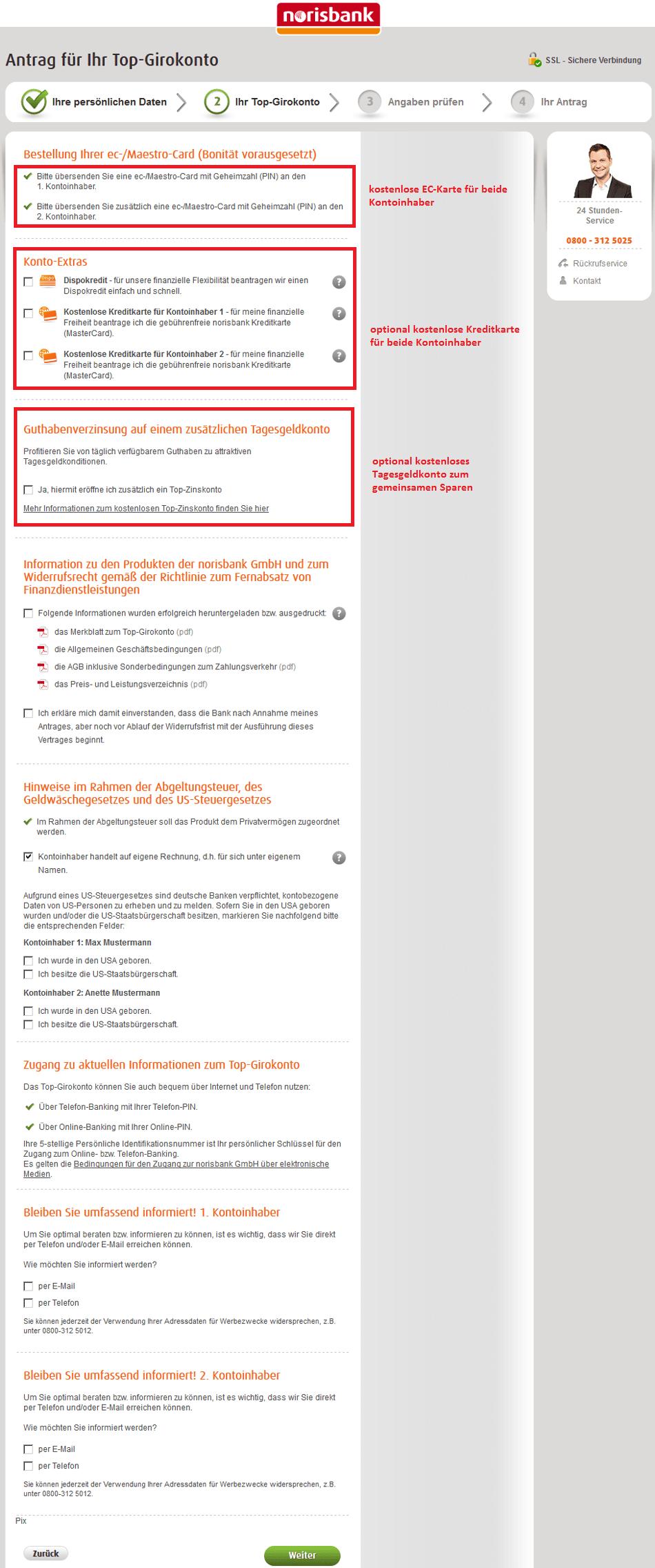 norisbank Eröffnung: Schritt 5